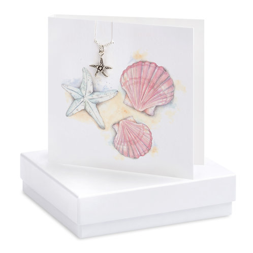 Boxed Shells & Starfish Necklace Card