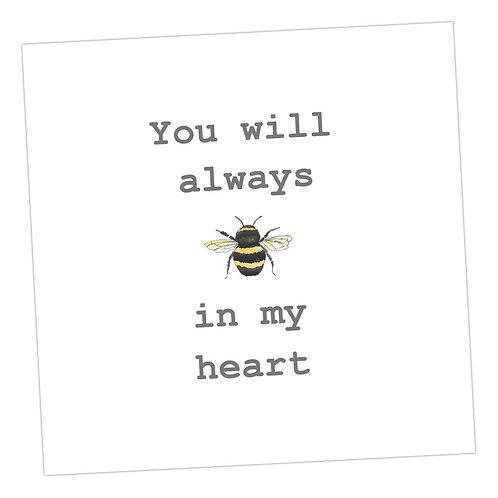 Bee in my Heart Card