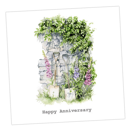 Garden Wall Anniversary Card