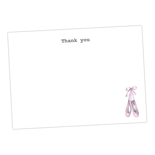 Ballet Shoe Note Cards