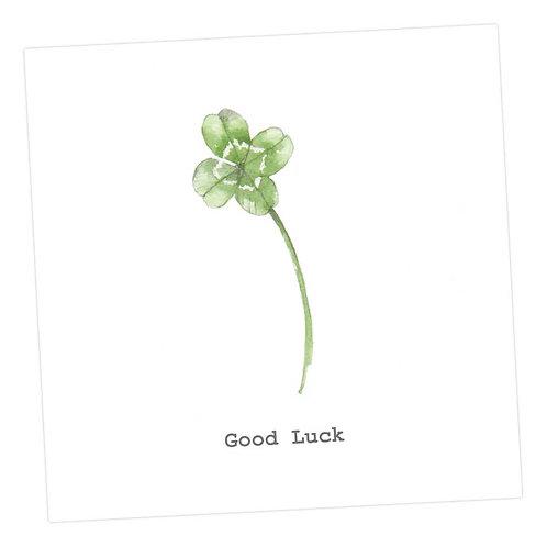 Four Leafed Clover Card