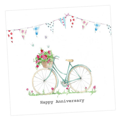 Summer Bicycle Anniversary Card