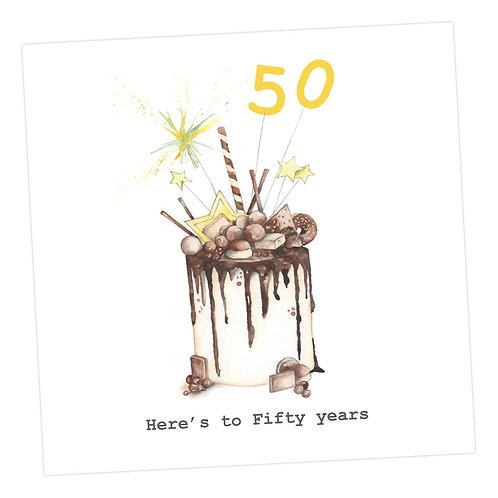 Choccie Woccie Cake 50th Card