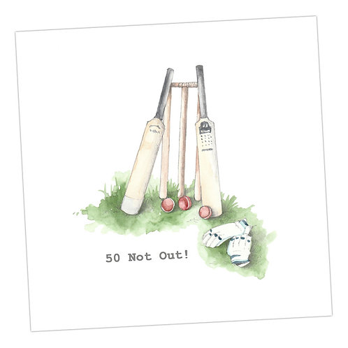 Cricket 50 Not Out Card