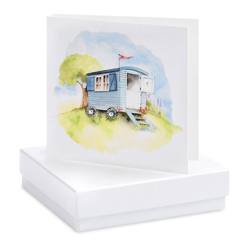 Boxed Shepherds Hut  Earring Card