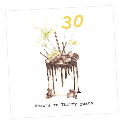 Choccie Woccie Cake 30th Card