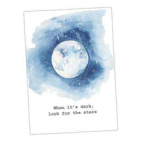 Moon & Stars Print