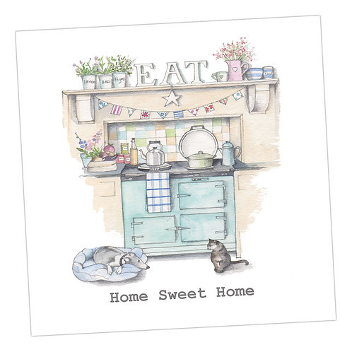 Home Sweet Home Aga Card