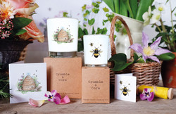 bee candles and cards