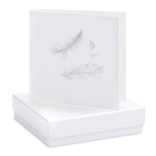 Boxed Blank Feather Earring Card