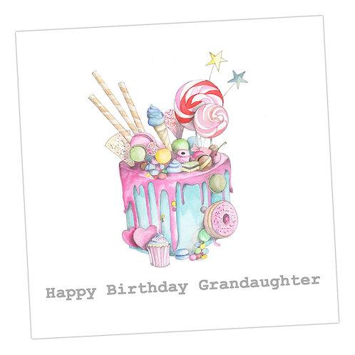 Granddaughter Cake Card