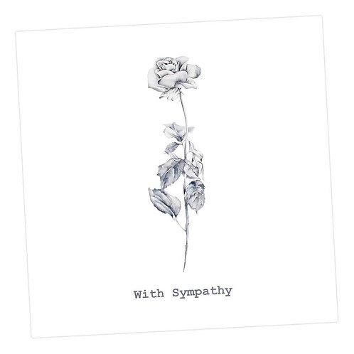 Rose Sympathy Card