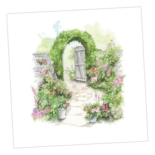 The Walled Garden Card