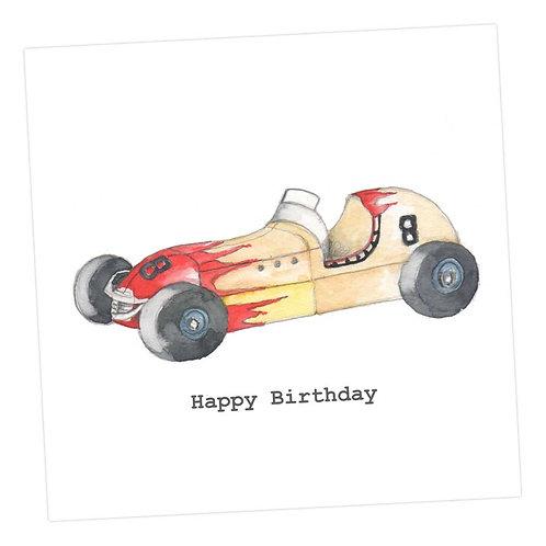 Racing Car Birthday Card