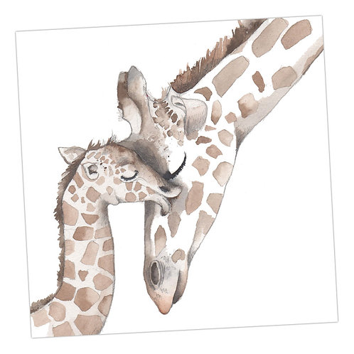Baby Love Giraffes Card