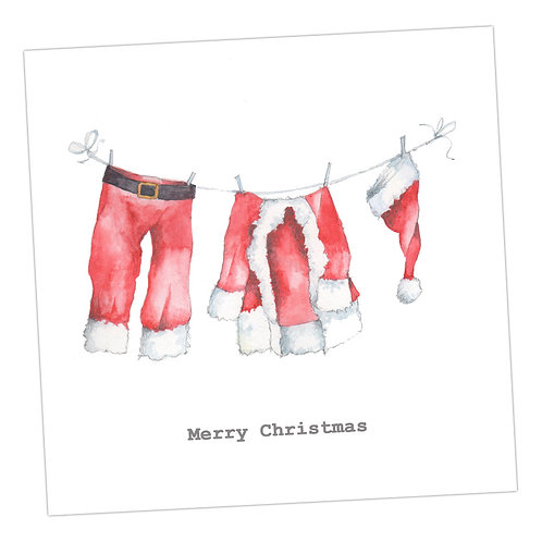 Washing Line Christmas Card