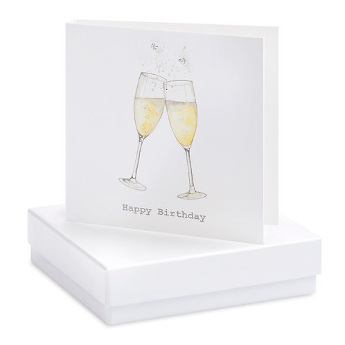 Boxed Champagne Glasses Earring Card