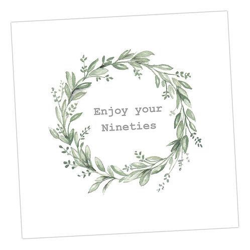90's Wreath Card
