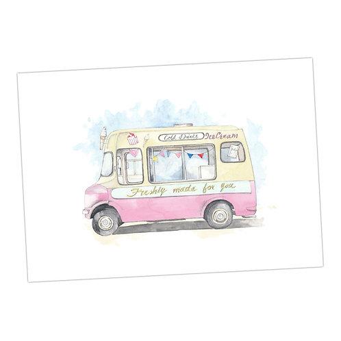Ice Cream Van Print