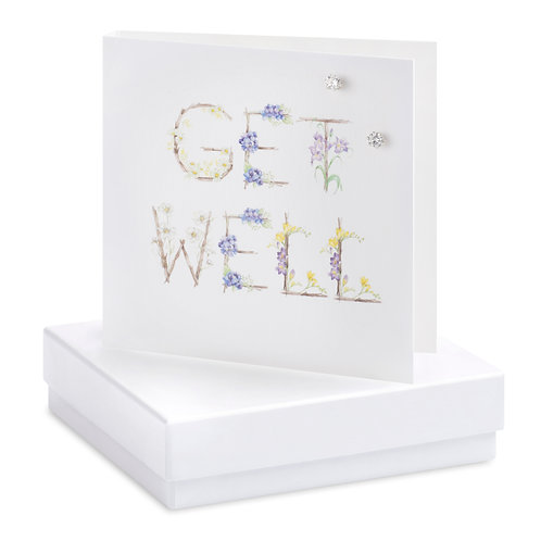 Boxed Get Well Earring Card