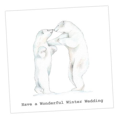Winter Wedding Card