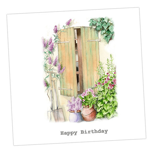 Shutters Birthday Card