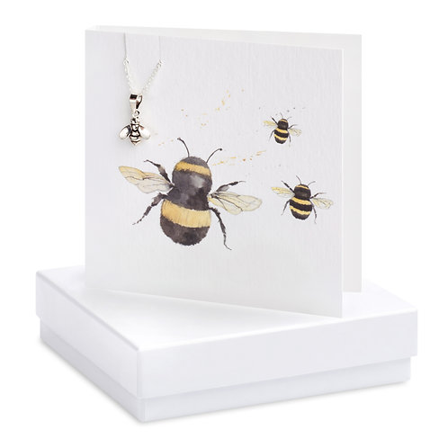 Boxed Bumble Bee Necklace Card