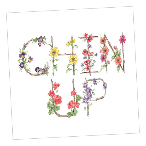 Floral Letters Chin Up