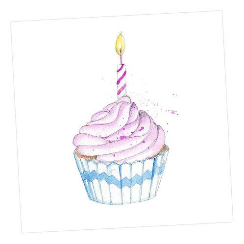 Birthday Cup Cake Card