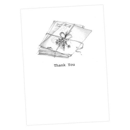 Thank You, Letter Bundle Card