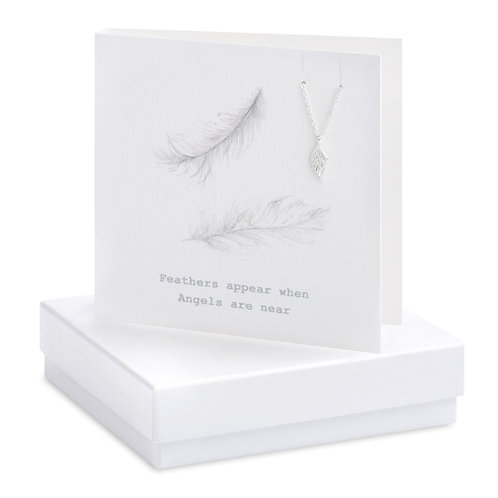 Boxed Bracelet Feather Card