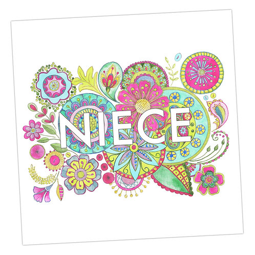 Embroidered Niece Card