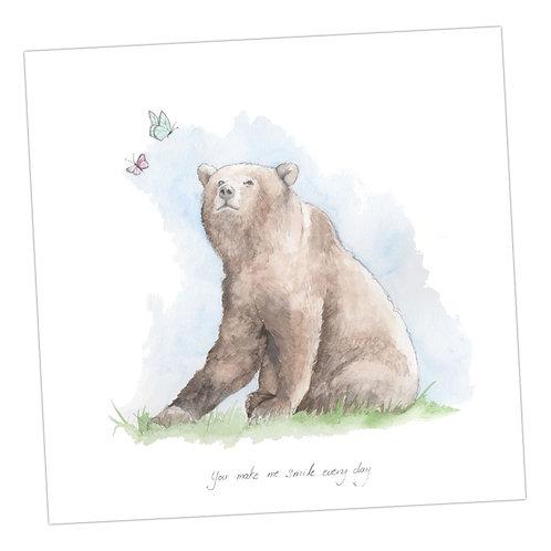 Bear & Butterflies Card