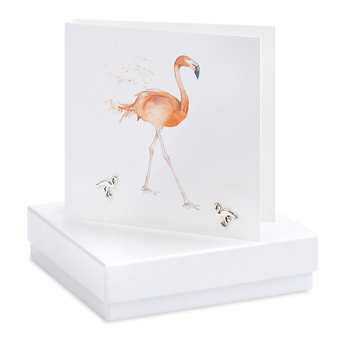 Boxed Flamingo Earring Card