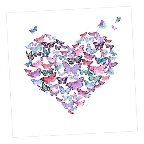 Heart of Butterflies Card