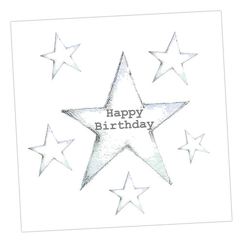 Star Happy Birthday Card