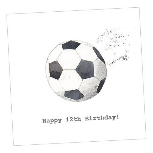 Football  12th Card