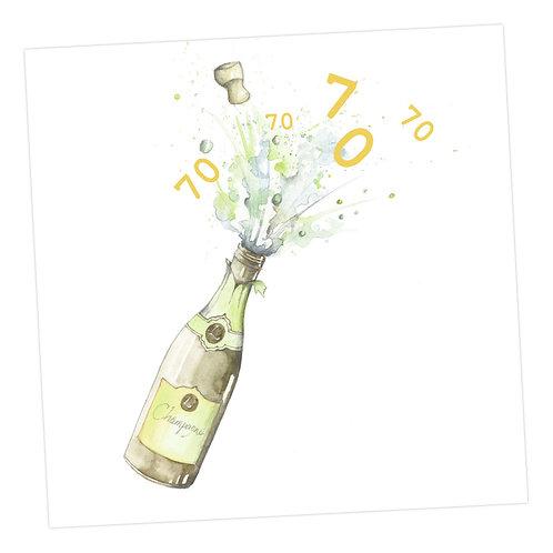 Champagne 70th Card