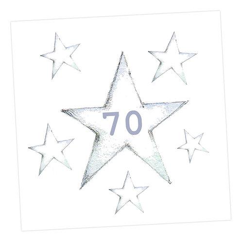 Star 70th Card