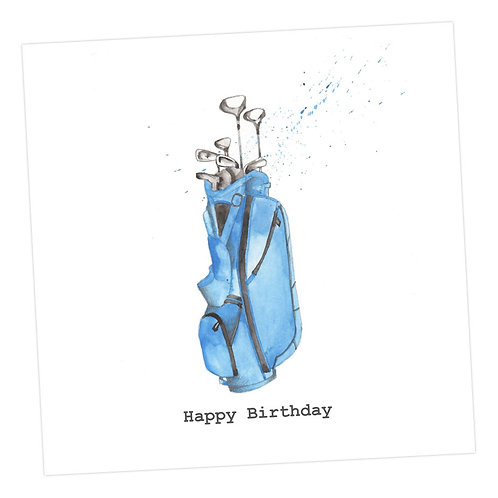 Birthday Golf Card