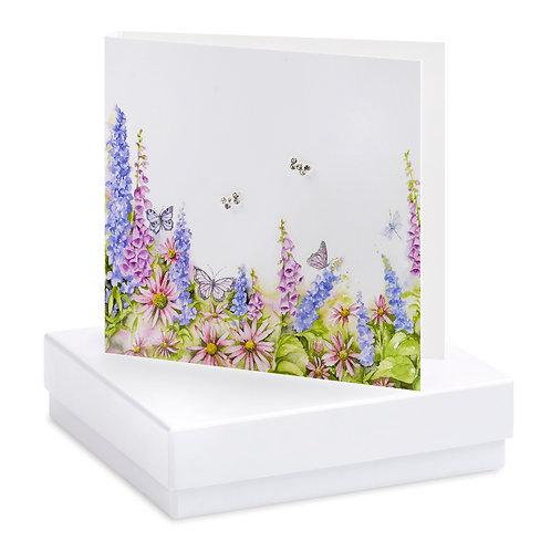 Boxed Meadow & Butterflies Earring Card
