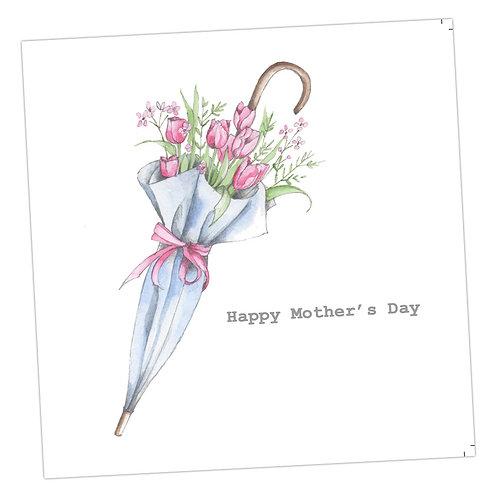 Umbrella of Flowers Card