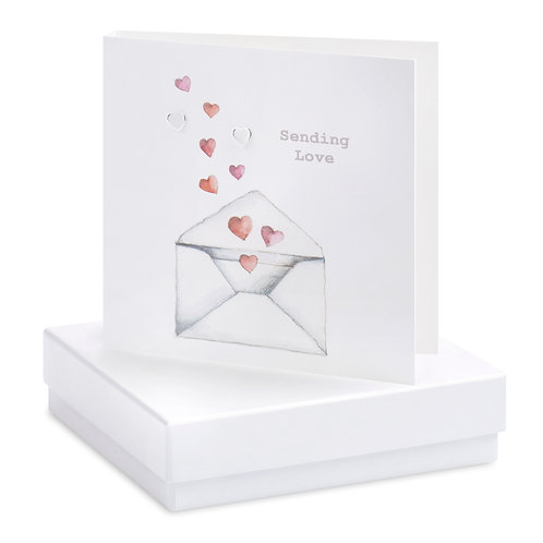 Boxed Love Letter Earring Card