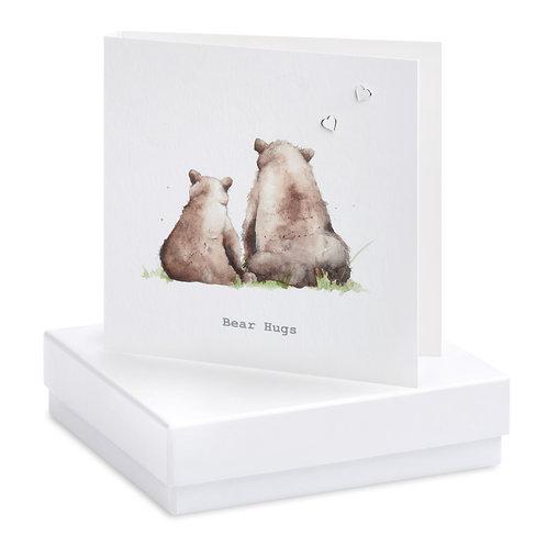 Boxed Bear Hugs  Earring Card
