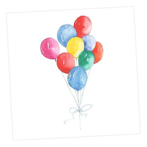 Jolly Balloons Card