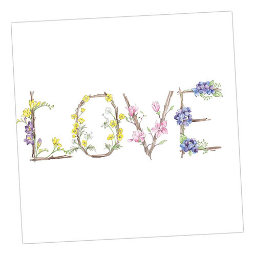 Floral Letters Love
