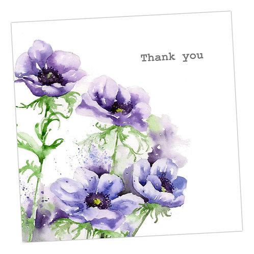 Anenomes Thank You Card