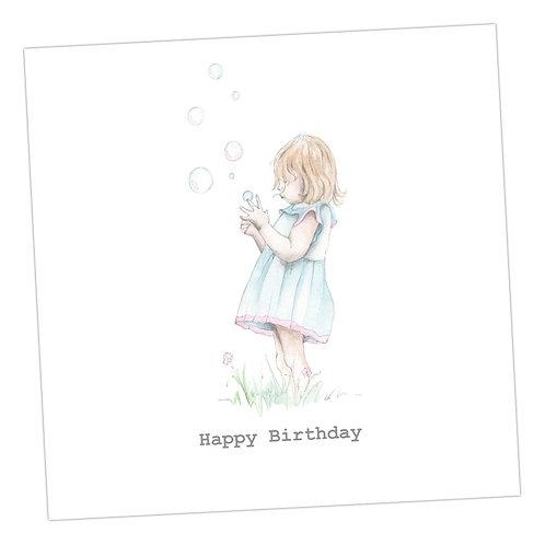 Bubbles Card Birthday