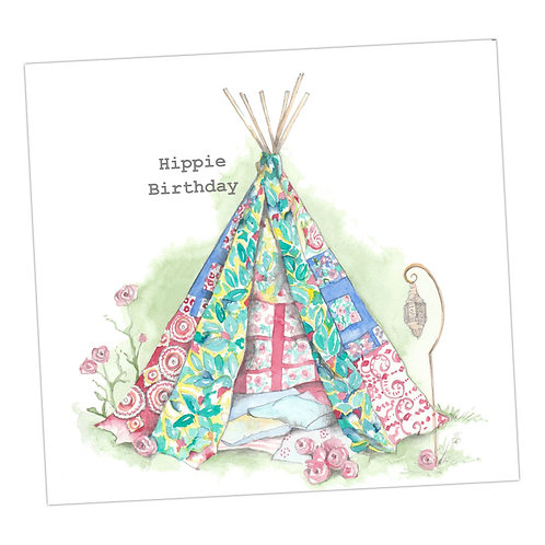 Bell Tent Birthday Card