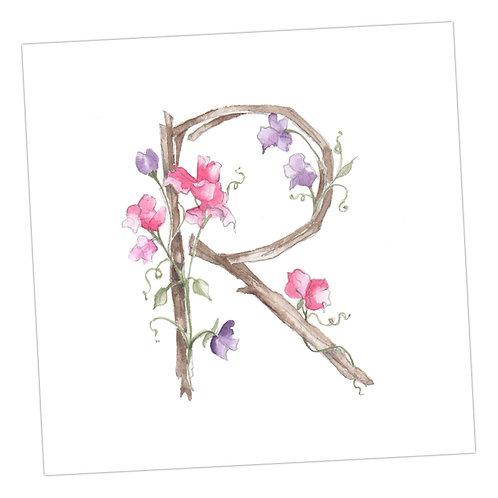Floral Letters R